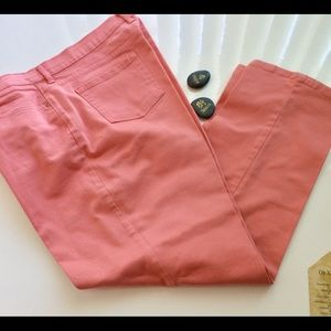 Gloria Vanderbilt Amanda Orange Jeans Size 18